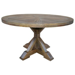 "53"" Round Single Pedestal Dining Table"