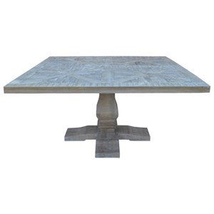 Square Dining Table with Parquetry Top