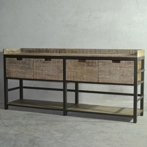 Porter Industrial Sideboard with Gallery Top
