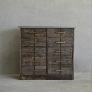B. Dotson Cabinet with Gold Finished Hardware
