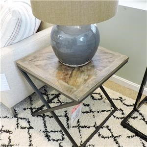 End Table With X- Base