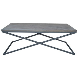 Coffee Table with Solid Mango Top