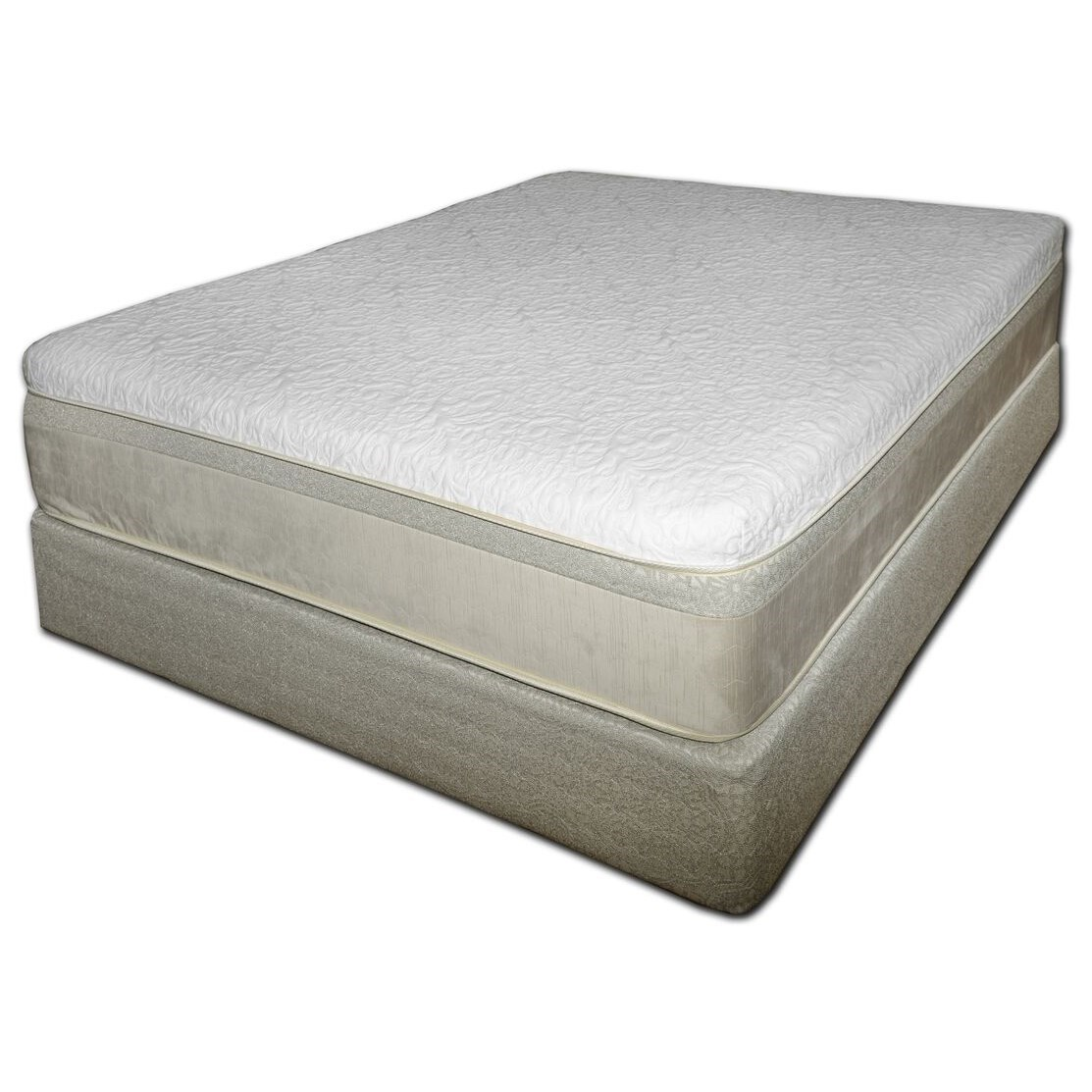 """Chattam and Wells Latex Core Full 11"""" Latex Mattress Set by Spring Air at Goods Furniture"""