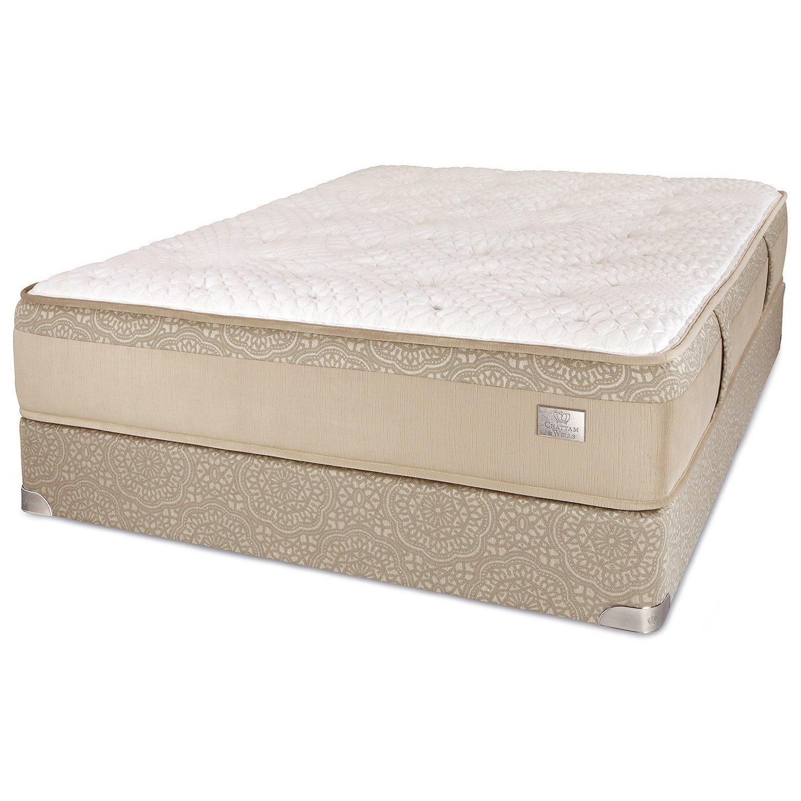 Crown Plush King Pocketed Coil Mattress Set by Spring Air at Steger's Furniture