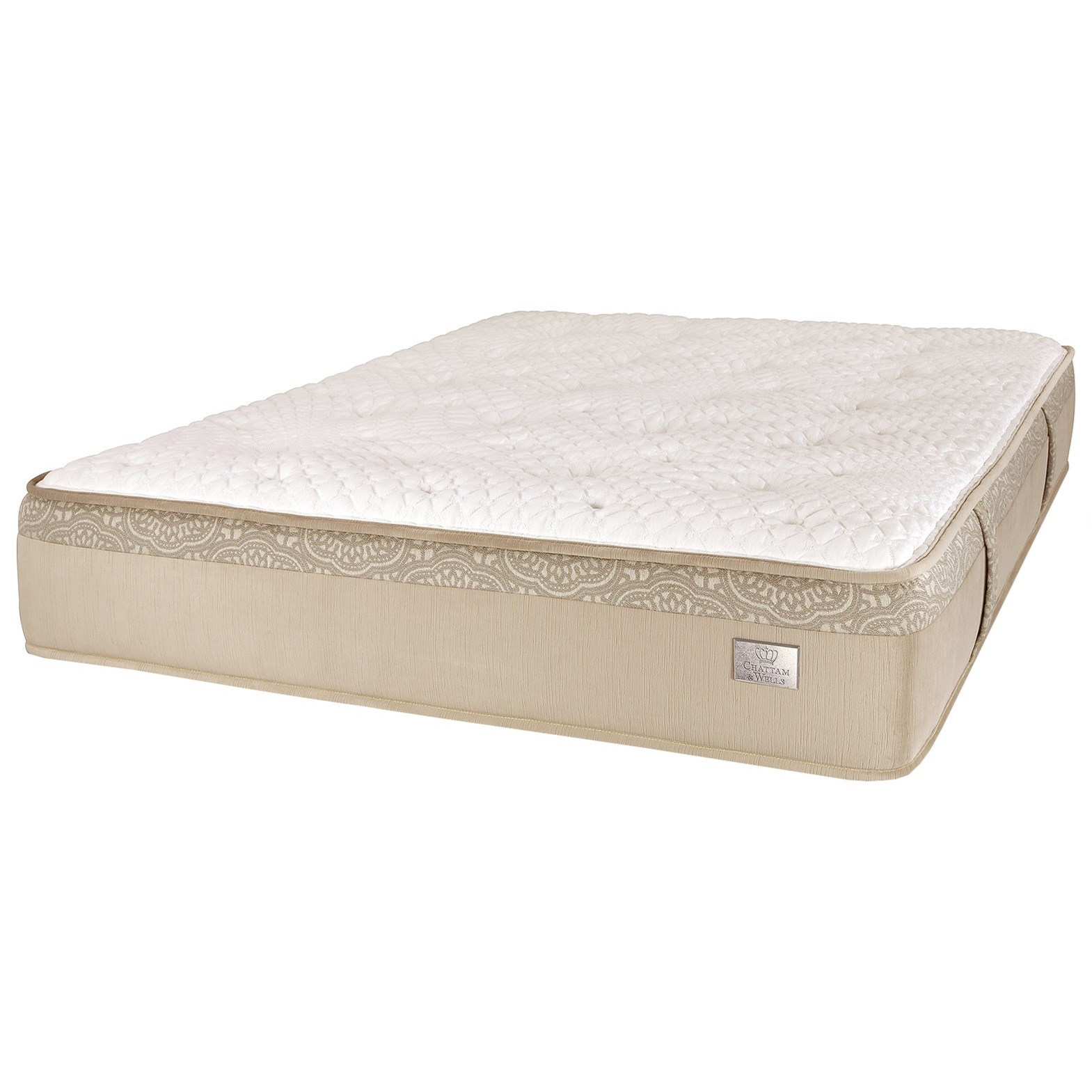 Crown Plush Queen Pocketed Coil Mattress by Spring Air at Steger's Furniture