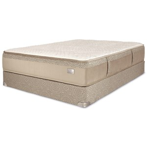 Queen Plush Innerspring Mattress with Foundation