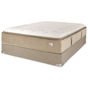 Queen Pillow Top Innerspring Mattress and Foundation