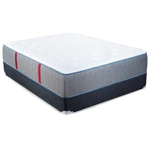Queen Plush Pocketed Coil Mattress and Extra Sturdy Foundation