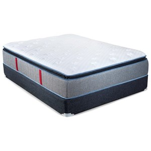 King Pillow Top Pocketed and Extra Sturdy Foundation Coil Mattress