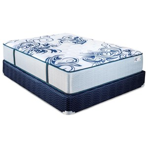 King Cushion Firm Pocketed Coil Mattress and Foundation