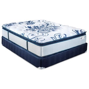 King Euro Top Pocketed Coil Mattress and Foundation