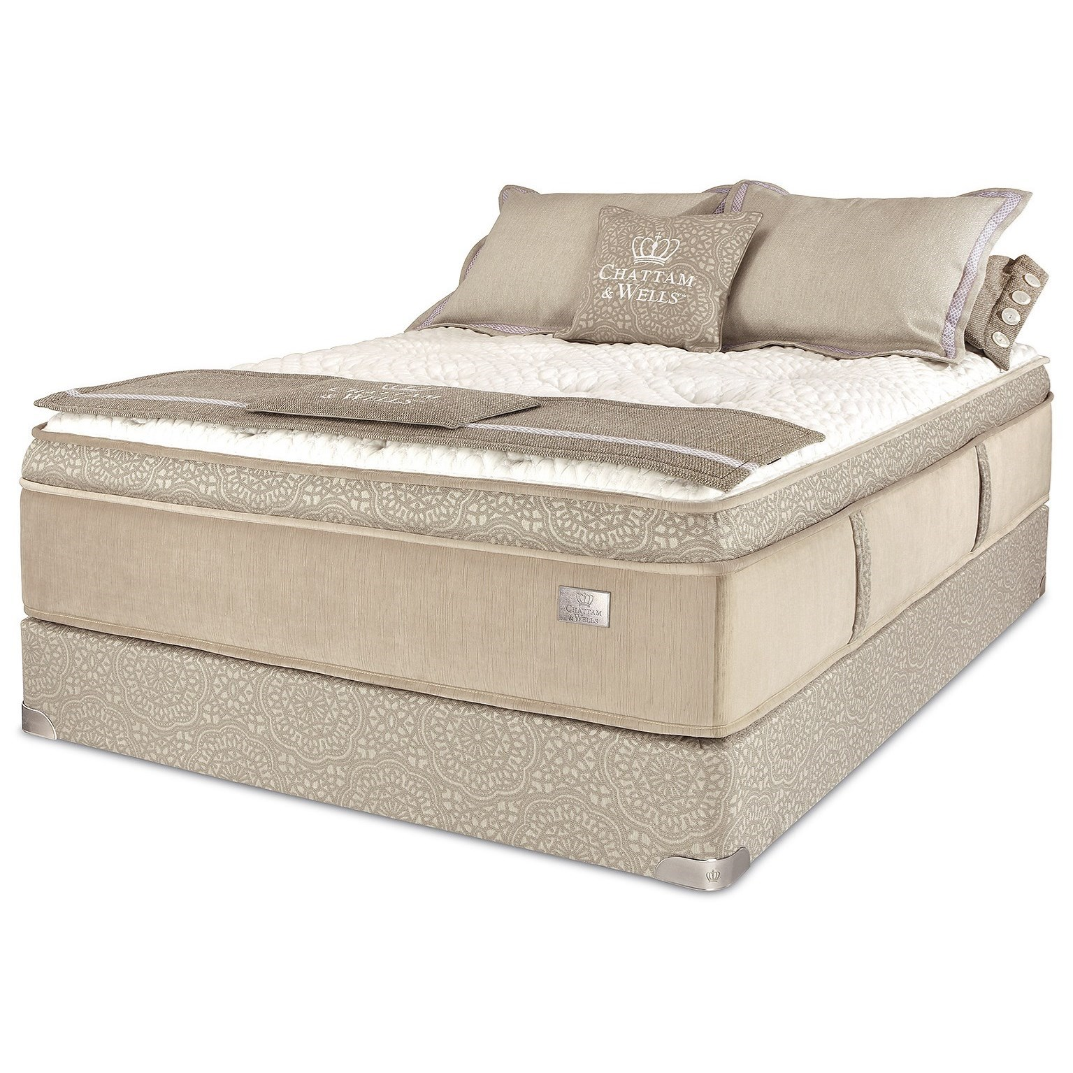 """Imperial Pillow Top Full 15"""" Pillow Top Latex Mattress Set by Spring Air at Steger's Furniture"""