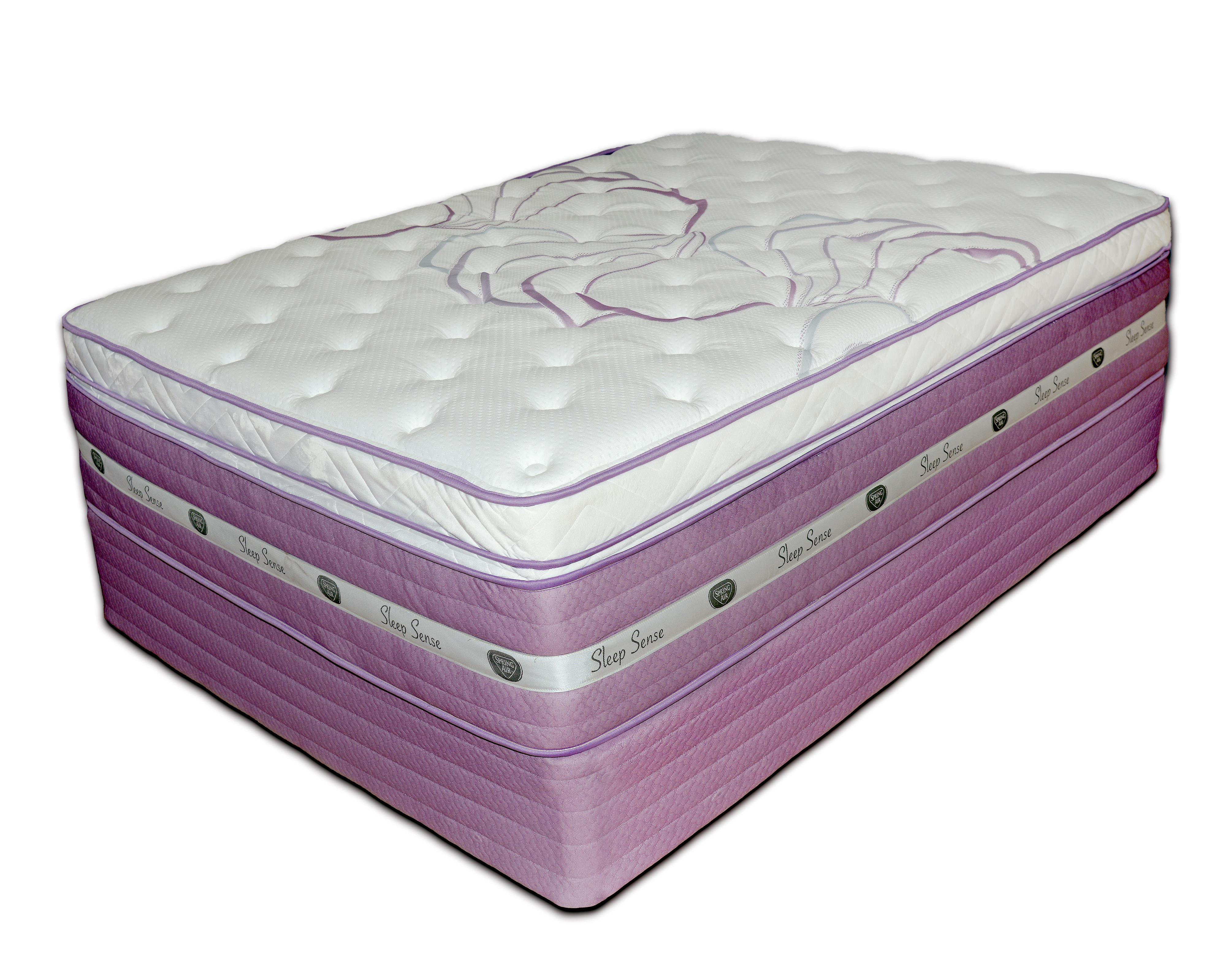"Sleep Sense Purple Full 16"" Hybrid Box Top Mattress by Spring Air at Mueller Furniture"