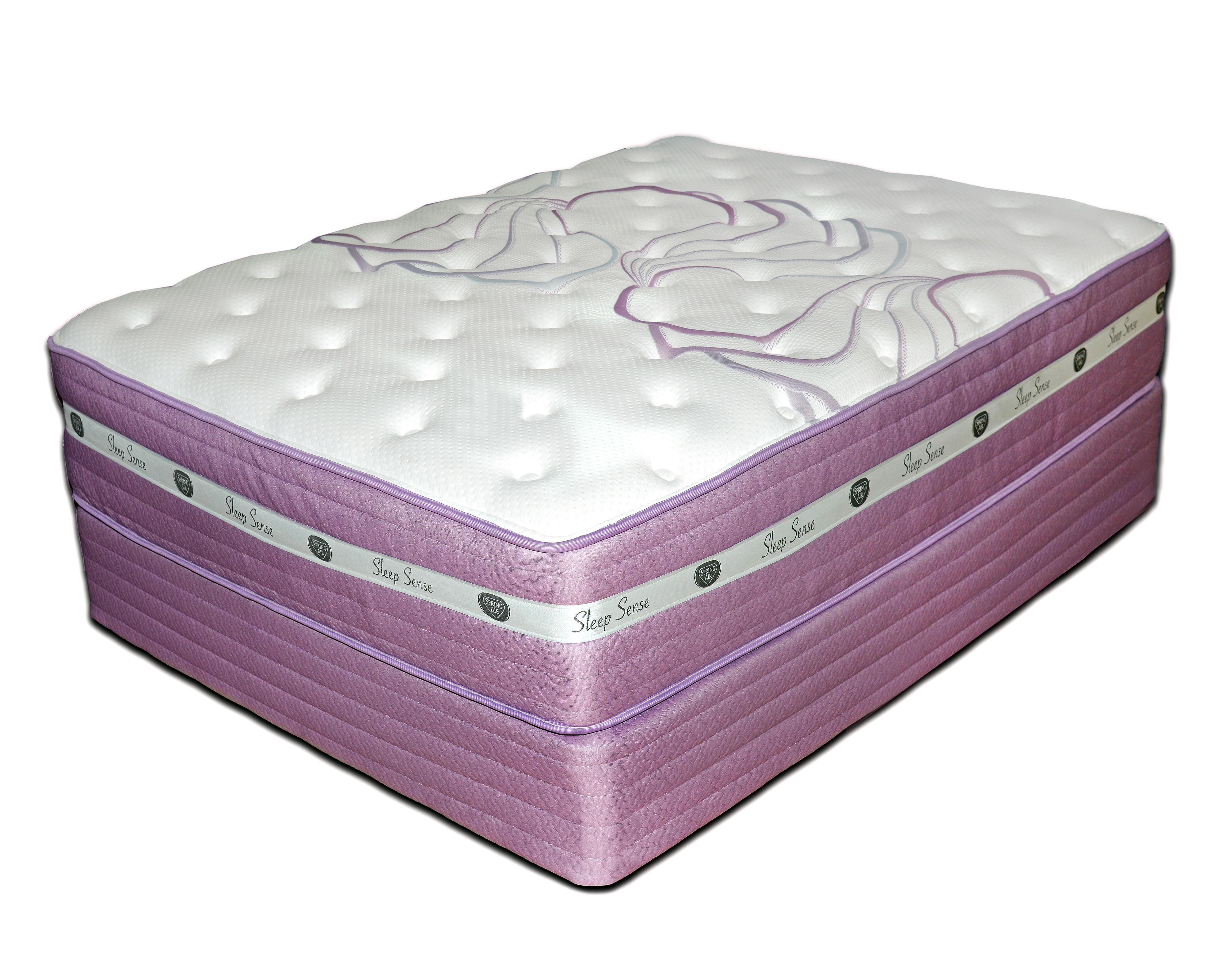 "Sleep Sense Purple Queen 13"" Firm HyBrid Mattress Set by Spring Air at Mueller Furniture"