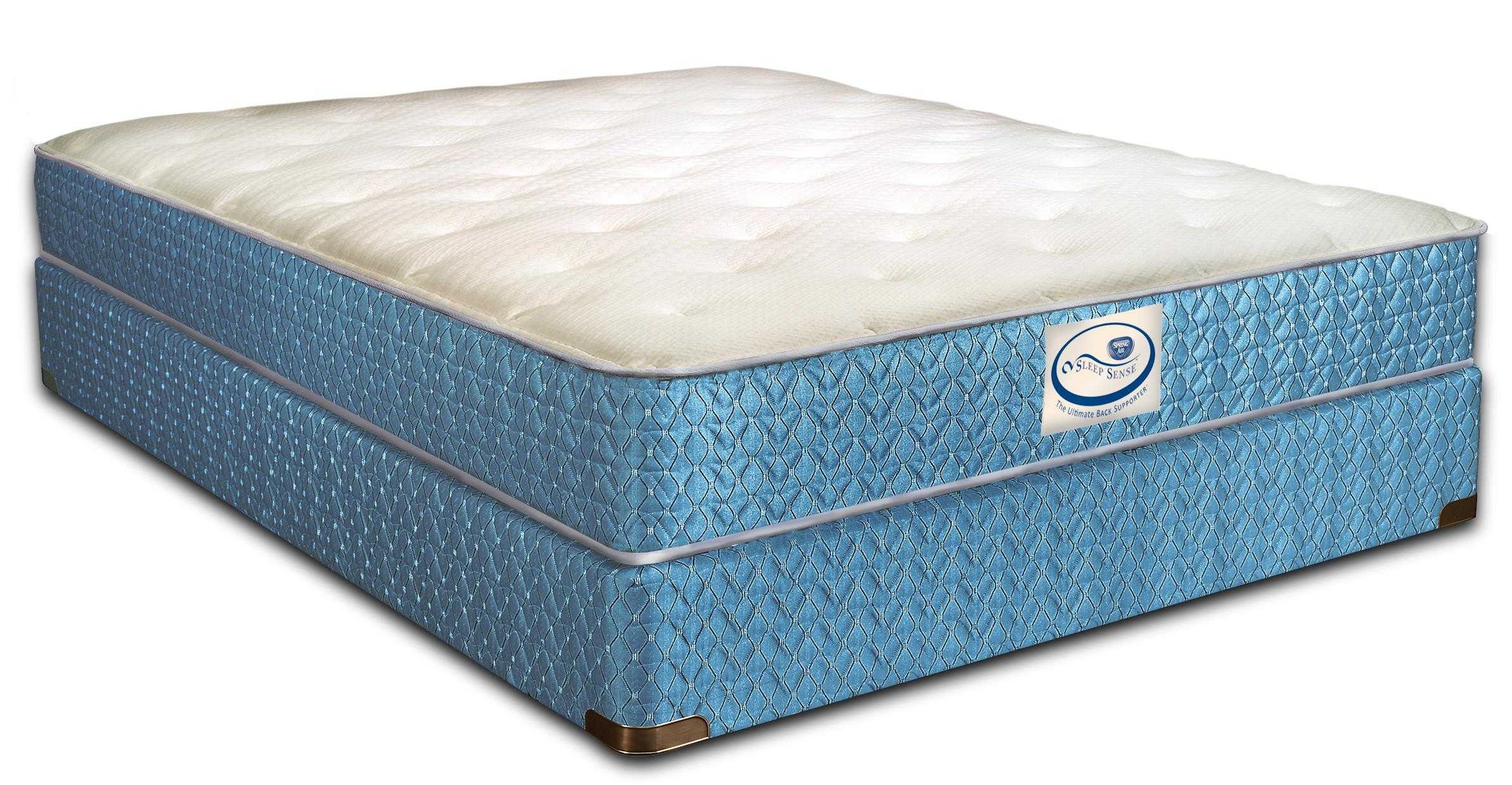 Sleep Sense King Cushion Plush Mattress Set by Spring Air at Mueller Furniture
