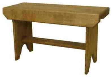 Solid Pine Bucket Bench Solid Pine Bucket Bench at Bennett's Furniture and Mattresses