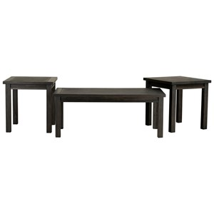 Transitional Occasional Table Group 3-Pack