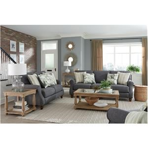 Charcoal Sofa & Loveseat