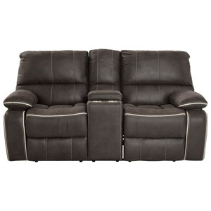 Dual Reclining Loveseat with Storage Console and Cupholders