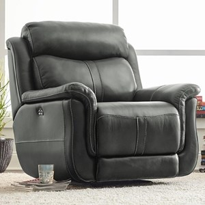 Power Glider Recliner with Pillow Top Arms