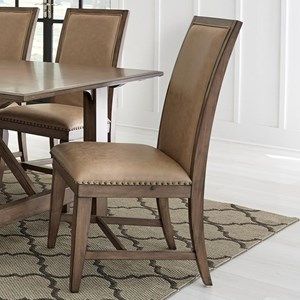 Traditional Upholstered Dining Side Chair with Nailhead Trim 2-Pack