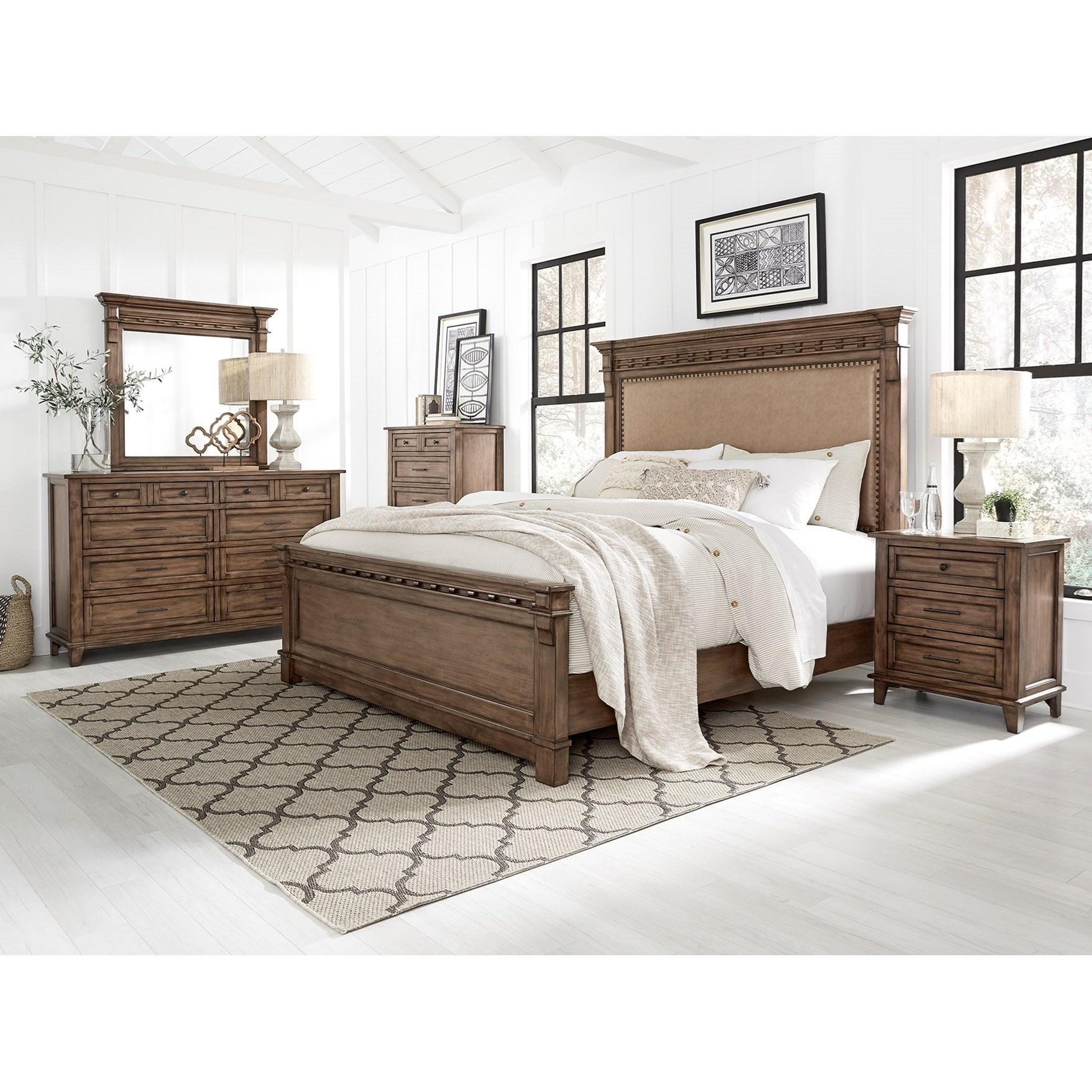 5 Pc Aspen Brown Bedroom Group