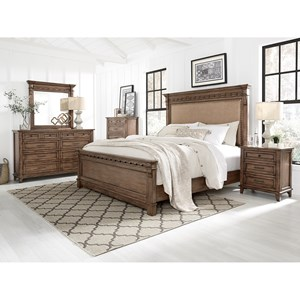 5 Pc Aspen Brown Bedroom Group
