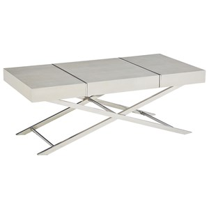 Contemporary Cocktail Table with Table Top Storage