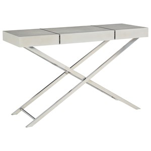 Contemporary Console Table with X-Crossed Scissor Bases