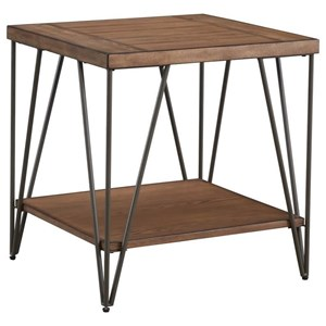 Rectangular End Table with Hairpin Legs