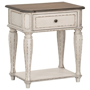 Relaxed Vintage 1-Drawer Nightstand
