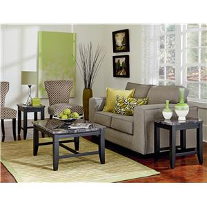 3 Piece Occasional Table Set with Faux Marble Tops