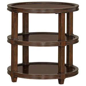 Transitional Round Tiered End Table