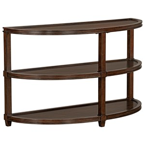Transitional Tiered Demilune Sofa Table