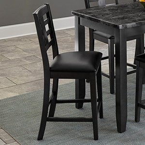 Contemporary Counter Height Chair with Upholstered Seat 2-Pack