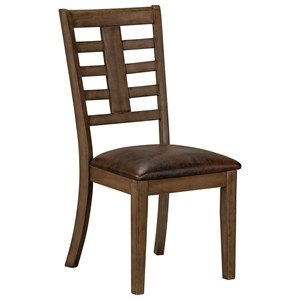 Contemporary Dining Side Chair with Upholstered Seat 2-Pack