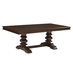 "Trestle Dining Table with 18"" Leaf"