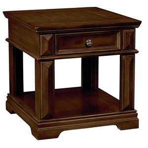 Traditional 1 Drawer End Table with Crown Molding