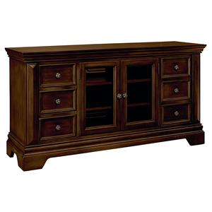"Traditional 60"" Entertainment Console with Crown Molding"