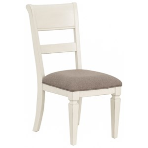 Relaxed Vintage Upholstered Side Chair