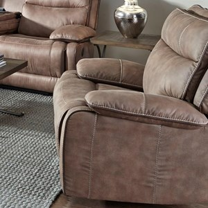 Casual Swivel Glider Recliner with Wide Seat