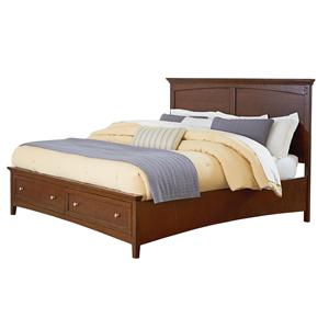 Casual Queen Bed with Storage Footboard