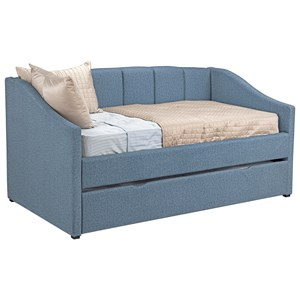 Casual Upholstered Twin Daybed with Trundle