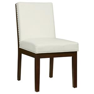 Upholstered Dining Side Chair with Nail Head Trim