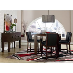 Counter Height Square Table and Stool Set