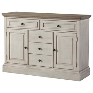Two-Tone Sideboard with Doors and Drawers