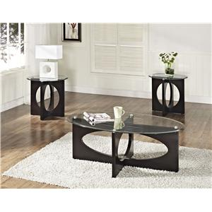 Occasional Table Set with Cocktail Table and Two End Tables