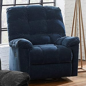 Casual Manual Glider Swivel Recliner