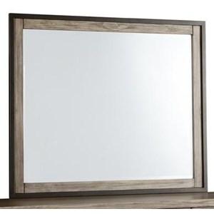 Industrial Rustic Mirror with Metal Trim