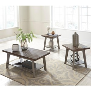Three Piece Occasional Set with Two-Tone Finish